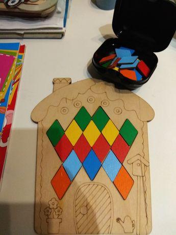 Пазл головоломка деревянный  домик