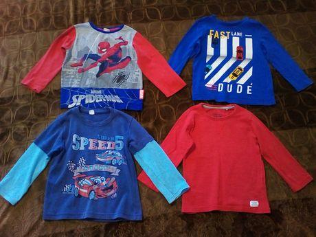 Набор: Реглан на 4 года пакет одежды кофта Спайдермен машинки