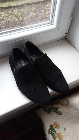 Чоловічі туфлі замшеві, розмір 41, СТЕЛЬКА 26,5см