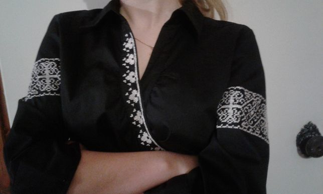 Рубашка вышиванка ручная работа размер L