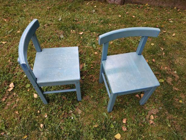 Krzesła drewniane dziecięce Skandynawskie 2 szt.
