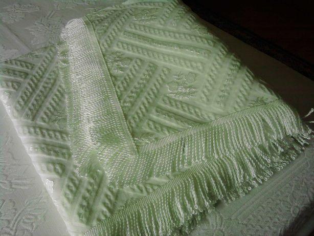Colcha cama de casal de algodão e seda