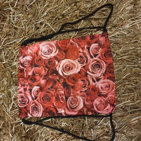 Worek plecak róże