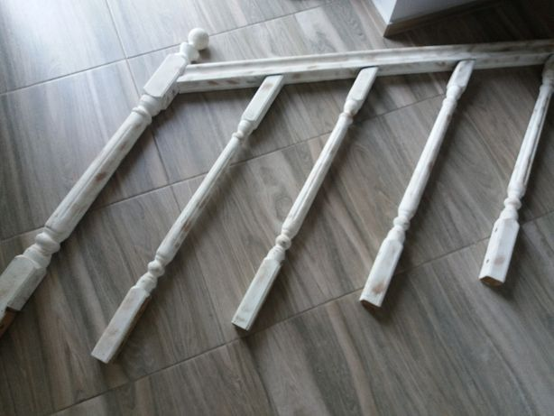 Barierka schodowa drewniana