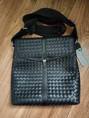 Кожаная мужская сумка Bottega veneta