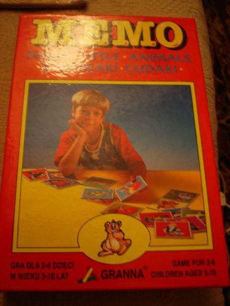 Memo Zwierzaki Cudaki Gra dla Dzieci w wieku 3-10 lat