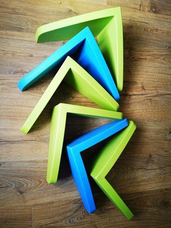Półki Ikea Mammut 6 szt. zielona/niebieska