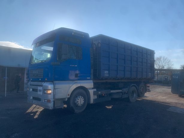 Samochód dostawczy MAN H17, z hakiem, kontenerowiec.