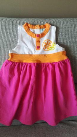 5.10.15 Śliczna letnia sukienka dla dziewczynki w rozmiarze 74