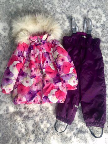 Зимовий костюм LENNE 98 p, куртка полукомбінезон + чобітки 16,5см