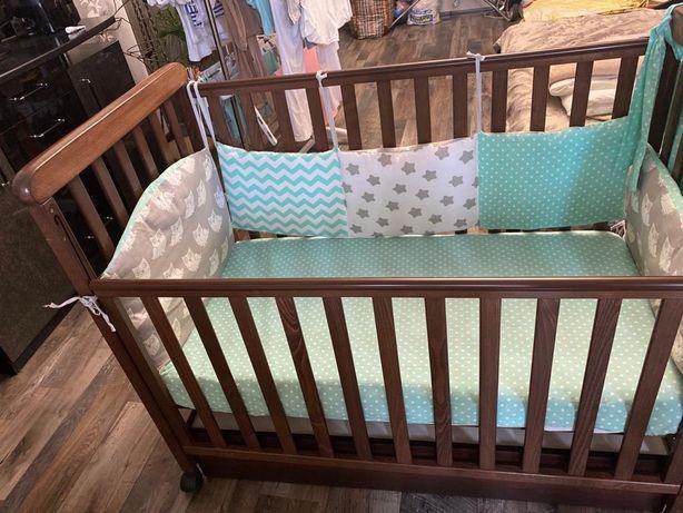 Детская кровать Соня с маятником,с ящиком для белья