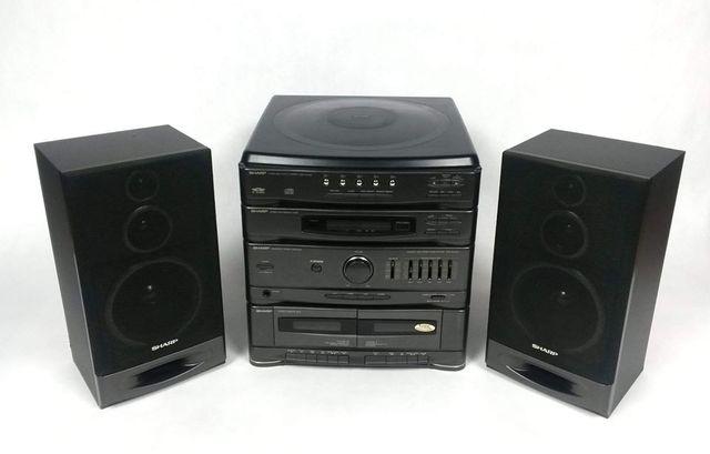 Wieża Sharp CMS-R400CDH(GY) magnetofon radio compact karuzela na 5 CD