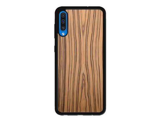 Drewniane Etui Case Samsung Galaxy A50 + Szkło