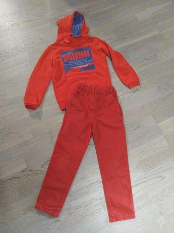 Bluza Puma 128, spodnie Reserved 122