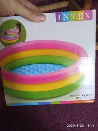 Бассейн детский надувной intex 86*25