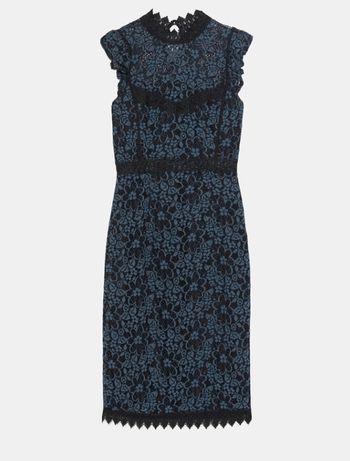 Vestido de renda Zara