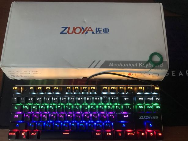 Механическая клавиатура zuoya x51 blue switch hyperx motospeed razer