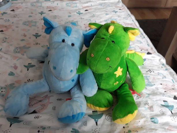 Smoki pluszowe zielony i niebieski smiki