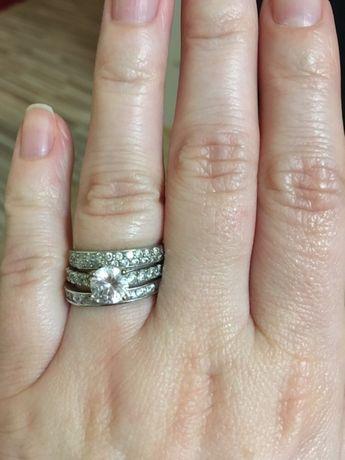 Komplet pierścionków srebrnych 925