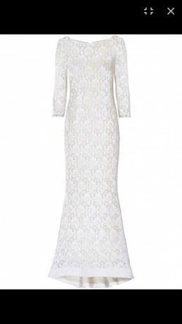 Кружевное длинное платье Bonprix