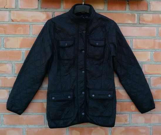 BARBOUR Polarquilt стеганная куртка стеганка на флисе оригинал UK 8