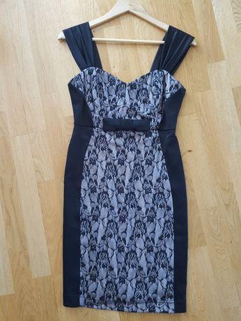 sukienka czarna z koronką ORSAY rozmiar m + koronkowe bolerko