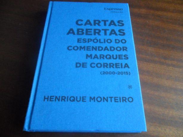 """""""Cartas Abertas"""" Espólio do Comendador Marques de Correia -2000 a 2015"""