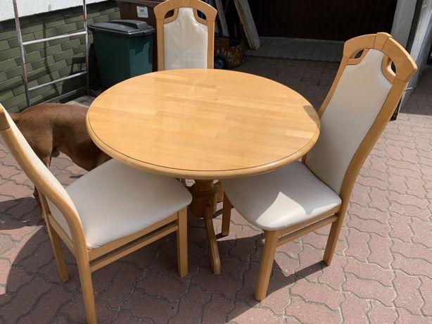 Stół drewno i 3 krzesła dowóz
