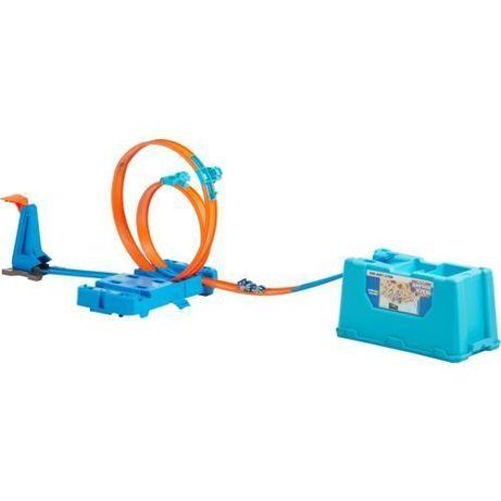 Хот Вилс Трек с петлей , Hot Wheels Track Builder Multi Loop Box Plays