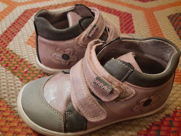 Buty trzewiki  Wojtyłko rozm.27 różowe, dla dziewczynki