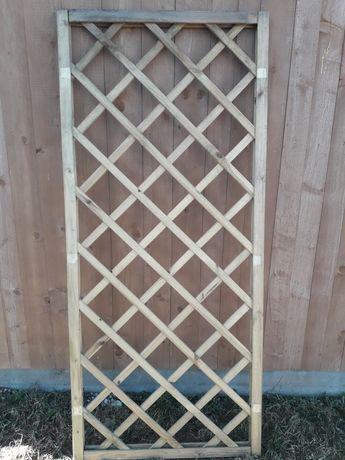 Kratka ogrodowa Płot drewniany lamelowy (panel,przesło) balkon,taras