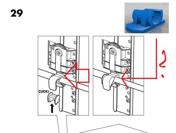 Uchwyt BEHJALPLIG IKEA dla zmywarki.