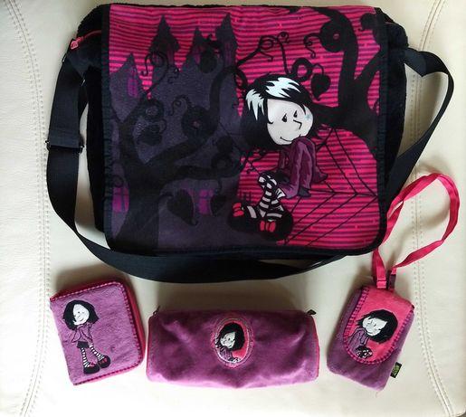 NICI czarodziejka torba+piórnik+ portfel+etui na telefon gratis ideał