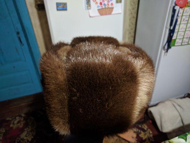 Продам шапку мужскую меховую , выдра.58-59размер