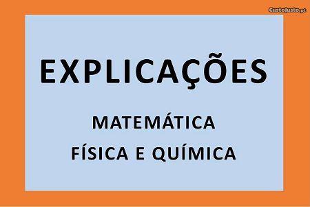 Explicações de Matemática e de Física