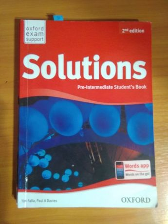 Учебник Solutions Pre-Intermediate 2nd edition