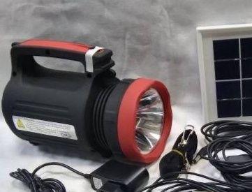 Фонарь ручной светодиодный Yajia YJ-1902T с солнечной панелью и USB Po