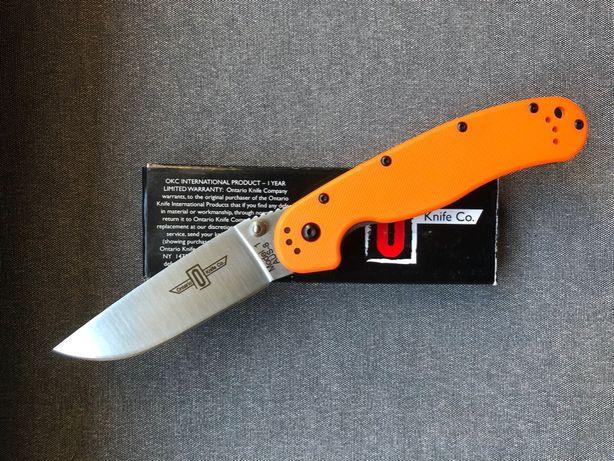 Nowy nóż Ontario RAT 1 Stal AUS8 pomarańczowy rzadko spotykana wersja