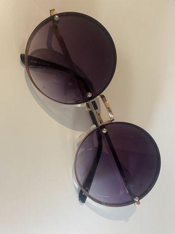 Oculos sol feminino redondo degradê