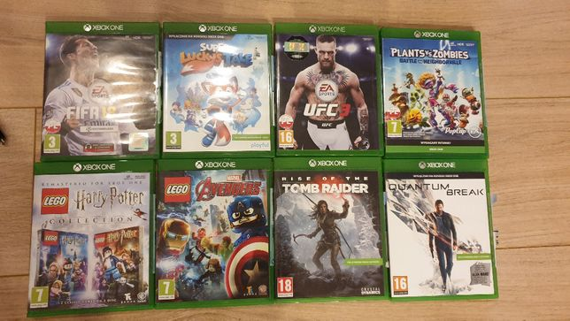 Gry XBOX Plants vs Zombies, Super Lucky's Tale, FIFA 18, Tomb Raider
