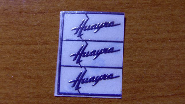 1:18 Huayra Pagani Logo naklejka Gt Autos AUTOart