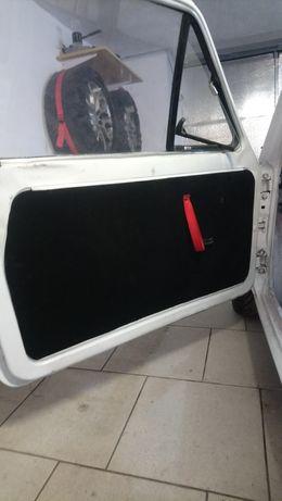 Boczki drzwi Fiat 126p KJS Tuning Czarne Welur