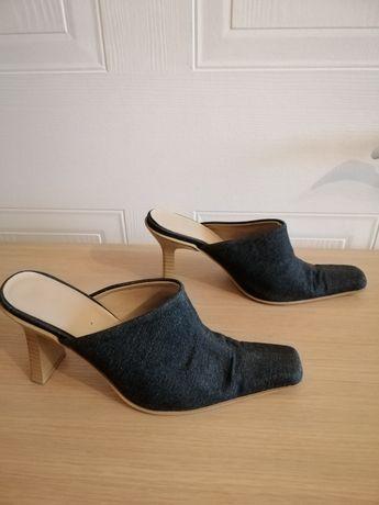 Мюли Босоножки женские джинс