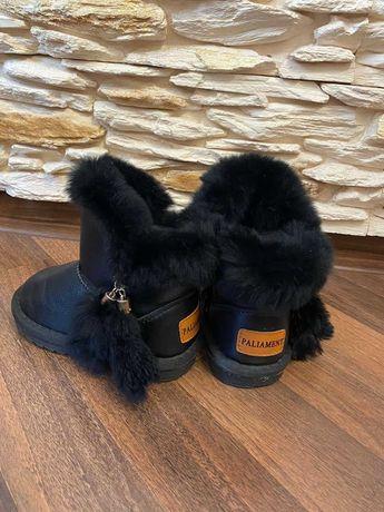 Угги сапожки ботинки зимняя обувь кожа дитяче взуття зимове шкіра