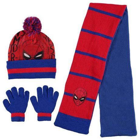 cachecol, luvas e gorro Homem Aranha menino