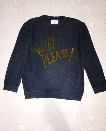 Zara шикарный свитерок на мальчика 8-9лет в идеале