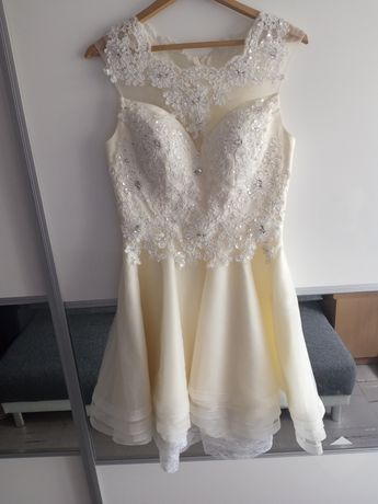 Sprzedam raz nalozona sukienkę na ślub cywilny