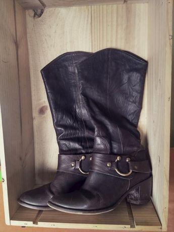 Кожаные сапоги, сапоги в ковбойском стиле 100 % кожа