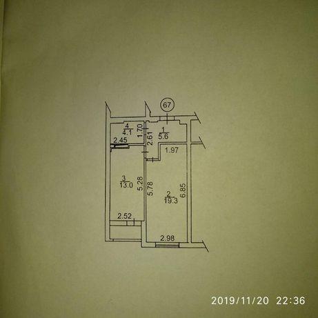 Сдам 1 комнатную, 44 м. кв. Днепровский р-н.9500 грн