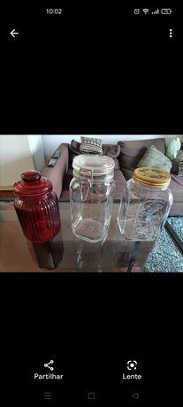 Potes de vidro - usados